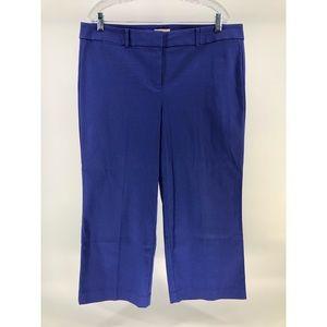 LOFT Wide Leg Cropped Pants in Indigo
